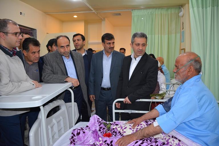 بازديد معاون درمان وزارت بهداشت، درمان و آموزش پزشكي از بيمارستان امام علي (ع) سرايان